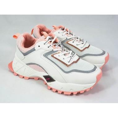 Adidasi dama albi cu roz Dana
