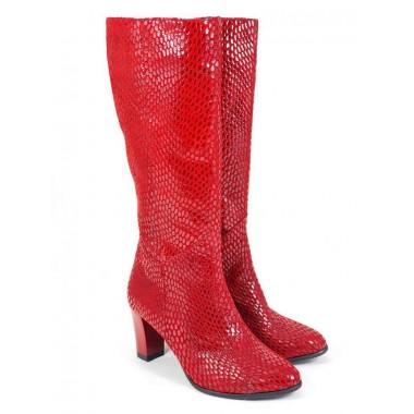 Cizme dama piele rosii Elvira