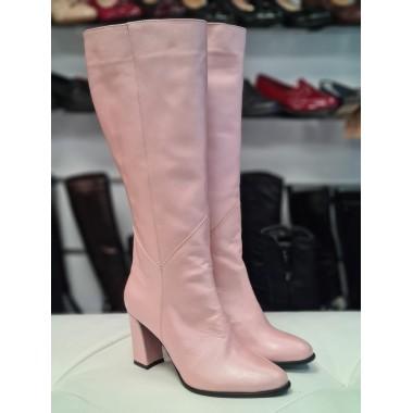 Cizme dama piele roz Ana