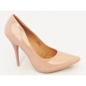 Pantofi dama bej nude stiletto cu  toc de 10 cm