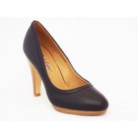 Pantofi femei negri Rody cu toc de 9 cm