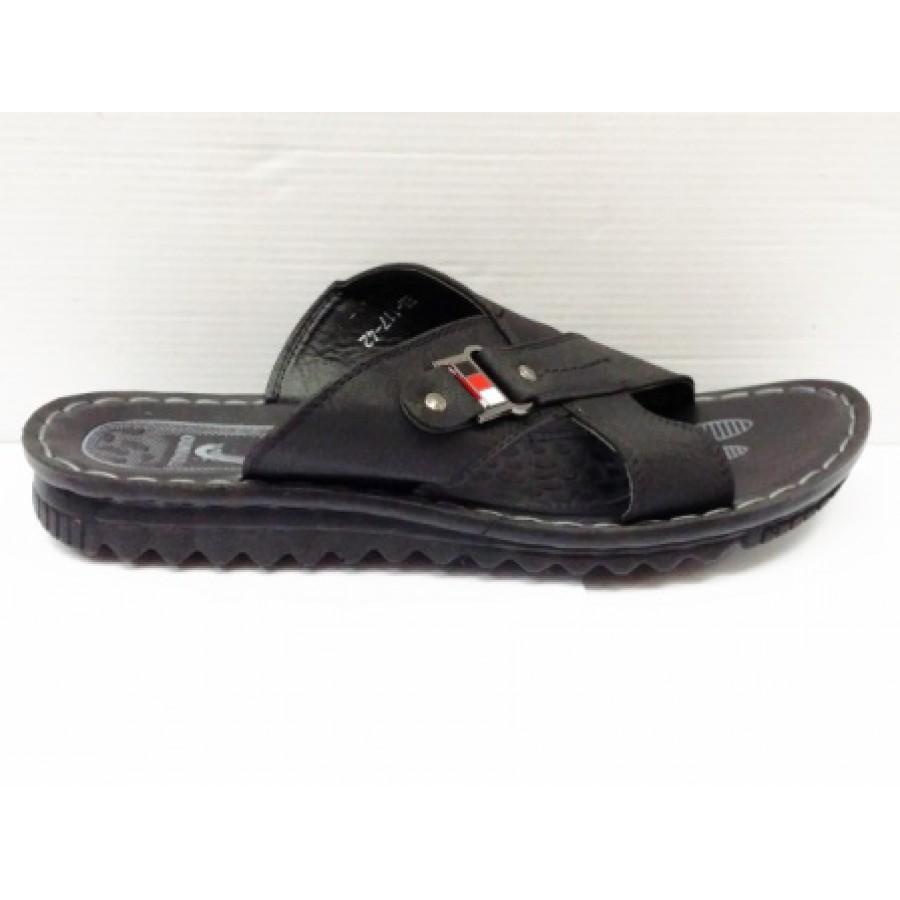 noi speciale noi speciale stil clasic Papuci barbati negri, talpa elastica ergonomica