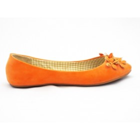Balerini dama portocalii, cu talpa foarte comfortabila