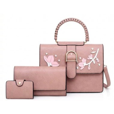 Geanta dama roz set 3 in 1 Gabriela