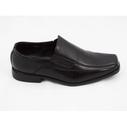 Pantofi barbati negri, cu talpa comfortabila., (PANTOFI NEGRI RND 296-11)
