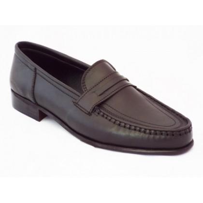 Pantofi barbati Nely negri din piele naturala, (NELY SCARP TOC-42)