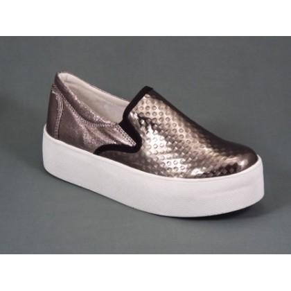Pantofi dama argintii talpa 4 cm Natasa, (NATASA ARGINTIU)