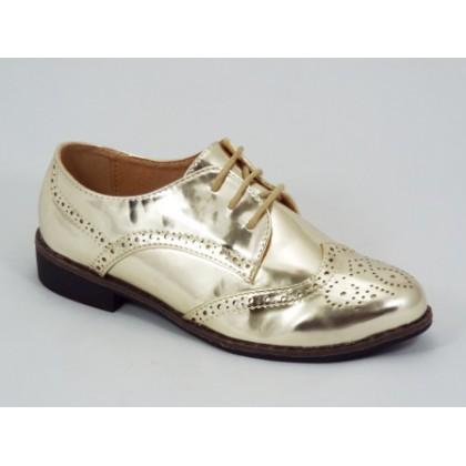 Pantofi dama aurii Gretta, (BESTELLE A463 DE-1 GOLD (M+L))