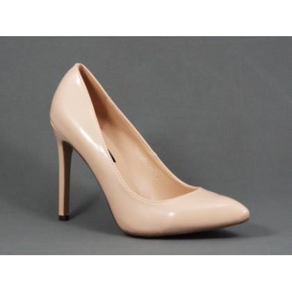 Pantofi dama bej stiletto toc 10 cm Fly, (MILAYA 5F5626-13)