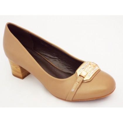 Pantofi dama camel cu toc de 5 cm, (PIAODU 86-86)