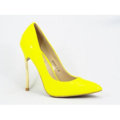 Pantofi dama galbeni stiletto toc 11 cm Sedone, (BOTINELLI HRWH-2 YELLOW-51)
