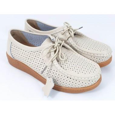 Pantofi dama piele bej Ileana2