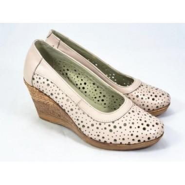 Pantofi dama piele bej Nadia