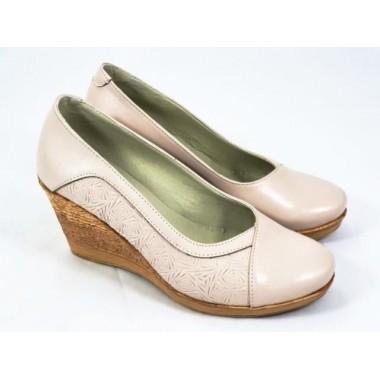 Pantofi dama piele bej Sanda
