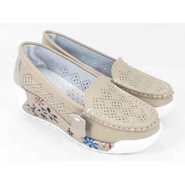 Pantofi dama piele bej Tina 1