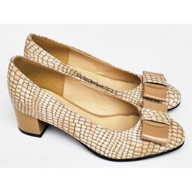 Pantofi dama piele bej Tina