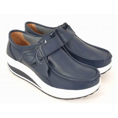 Pantofi dama piele bleumarin Alina