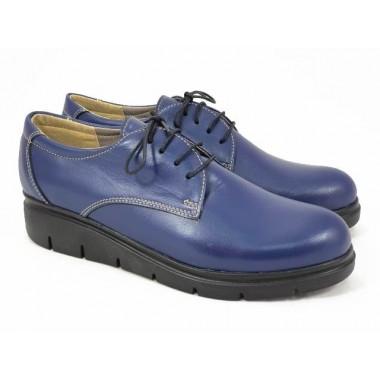 Pantofi dama piele bleumarin Eva