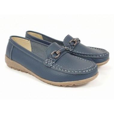 Pantofi dama piele bleumarin Otilia