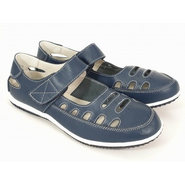 Pantofi dama piele bleumarin Tora