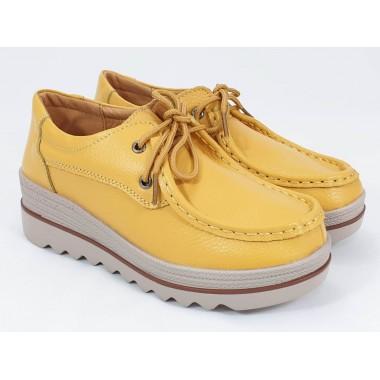 Pantofi dama piele galbeni Flavia
