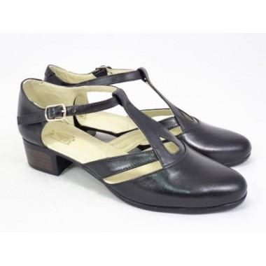 Pantofi dama piele negri Aura