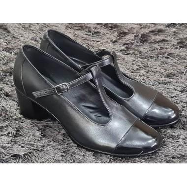 Pantofi dama piele negri Aurelia2