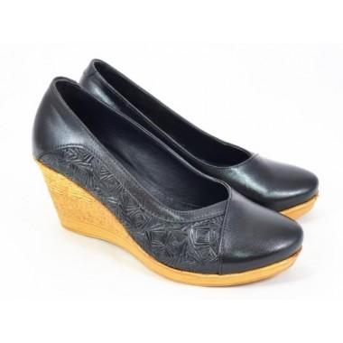 Pantofi dama piele negri Sanda