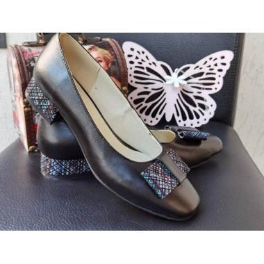 Pantofi dama piele negri Sandra