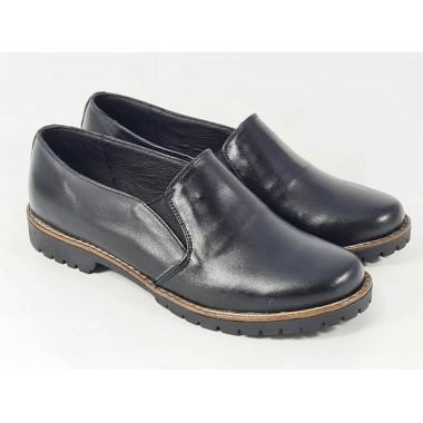Pantofi dama piele negri Zoia2