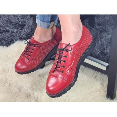 Pantofi dama piele rosii Andra