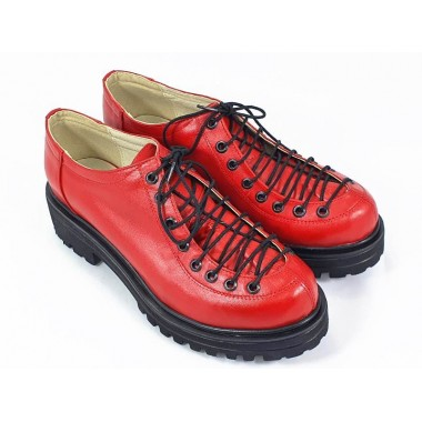 Pantofi dama piele rosii Daiana