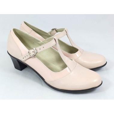 Pantofi dama piele roz cu lac Aurelia