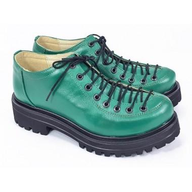 Pantofi dama piele verzi Daiana
