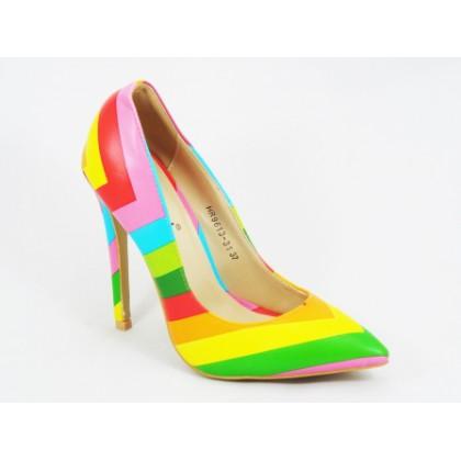 Pantofi dama roz stiletto toc 12 cm Tyna, (BOTINELLI HR9613-31 PINK (M))