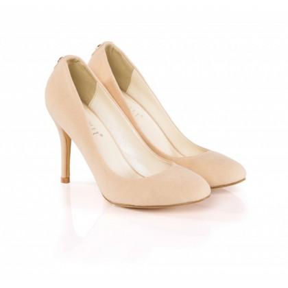 Pantofi dama Tenny bej cu toc de 10 cm, (BOTINELLY L-3 BEJ DP-29)