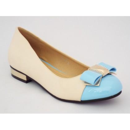 Pantofi femei Oygi bej cu toc mic, (OUGE MO189-97)