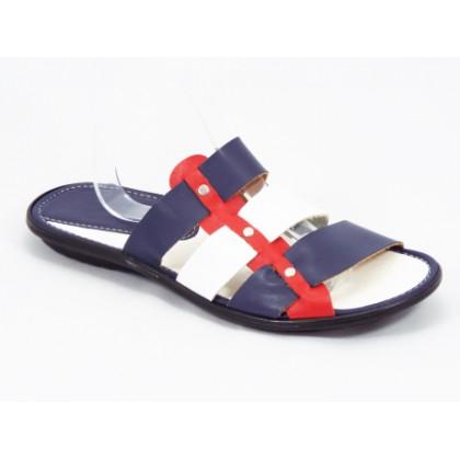 Papuci barbati albastri cu rosu si alb Keo, (ARB TOMY)