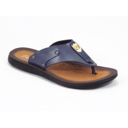 Papuci barbati albastri Mansyk, (LUMANSI 30 DARK BLUE-43)