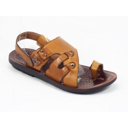 Sandale barbati maro Ryke, (PINWEIXI YELLOW)