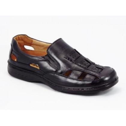 Sandale barbati negre Jonne, (BANGPAI  3891-1 BLACK-75)