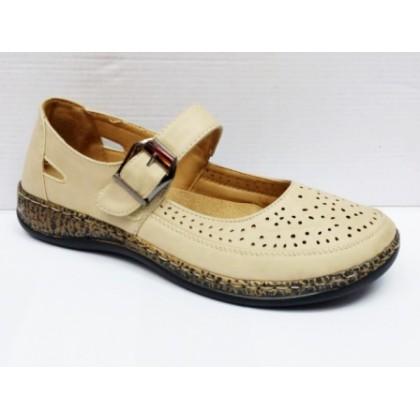 Sandale dama bej perforate, cu talpa deosebit de comoda, (BANGPAI 972-7-11)