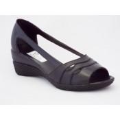 Sandale cu toc mediu piele (65)
