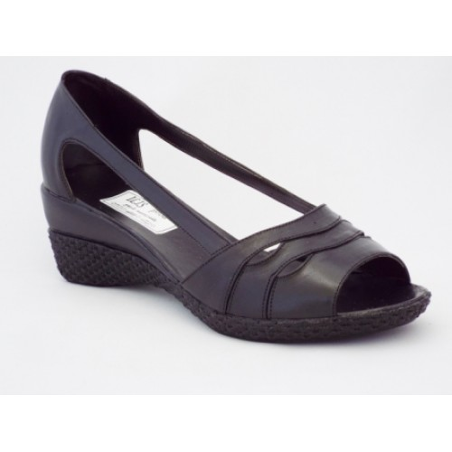 Sandale cu toc mediu piele