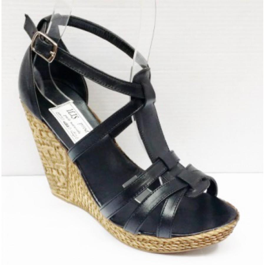 Sandale Dama Negre Din Piele Naturala Talpa Ortopedica