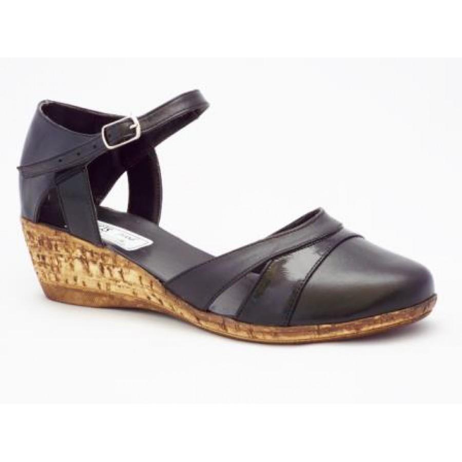 Sandale Dama Negre Piele Naturala Talpa Ortopedica Tip