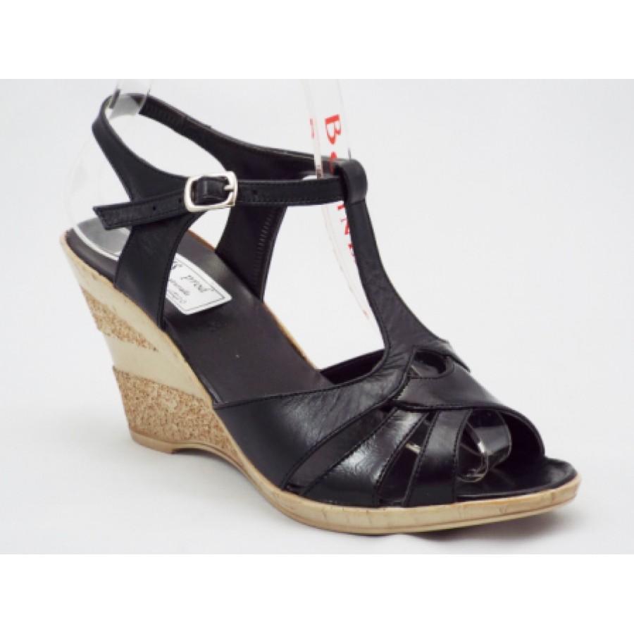 Sandale Dama Negre Piele Naturala Talpa Ortopedica