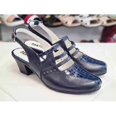 Sandale dama piele bleumarin Belina