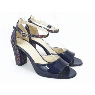 Sandale dama piele bleumarin Gala