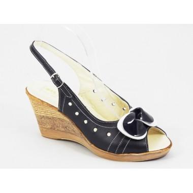 Sandale dama piele bleumarin Janna2